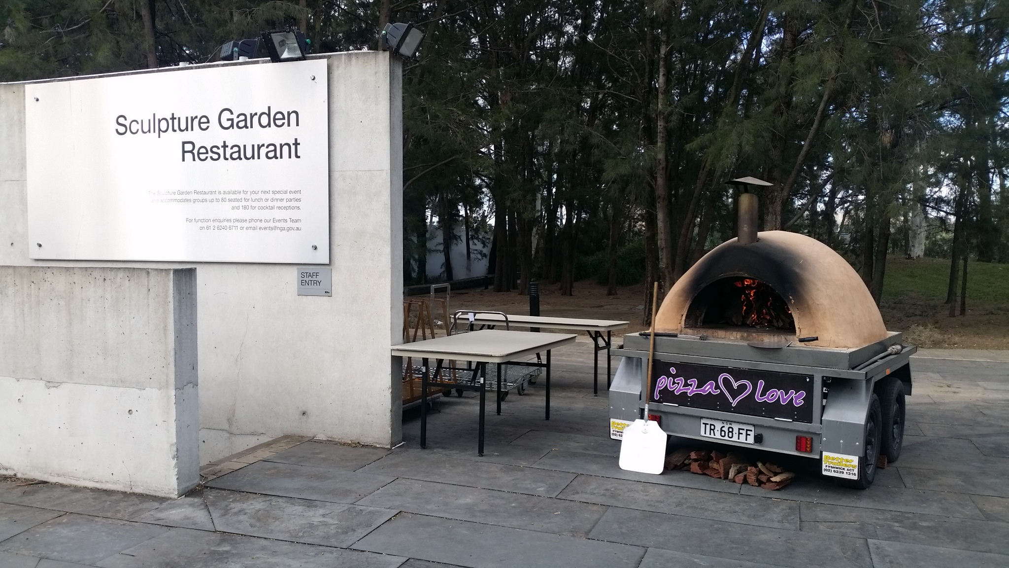 pizza oven hire and catering Canberra